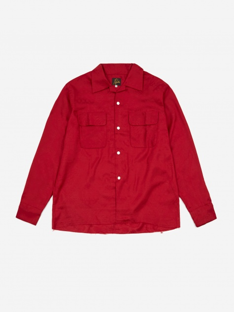 Cut Off Bottom Classic Shirt - Red Paisley Jacquard