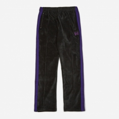 Needles Narrow Velour Track Pant - Charcoal