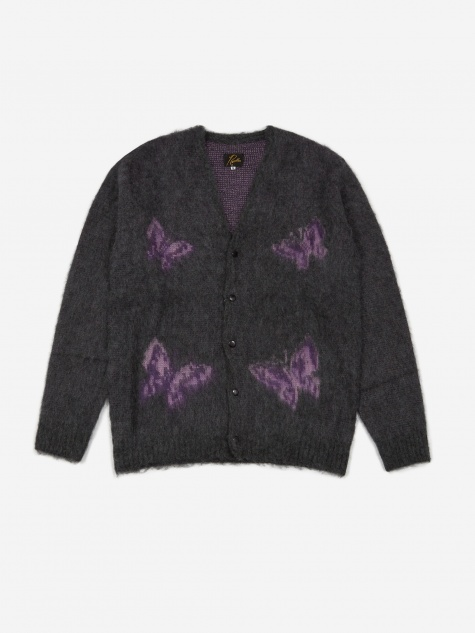 Mohair Cardigan - Papillion Charcoal