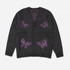 Needles Mohair Cardigan - Papillion Charcoal