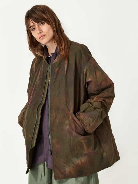 Stand Down Collar Sur Coat - Olive