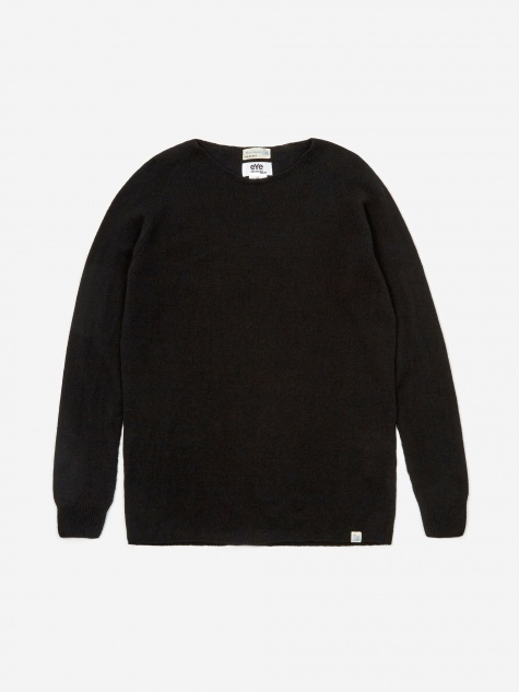 Lambswool Silk Cashmere Jumper - Black