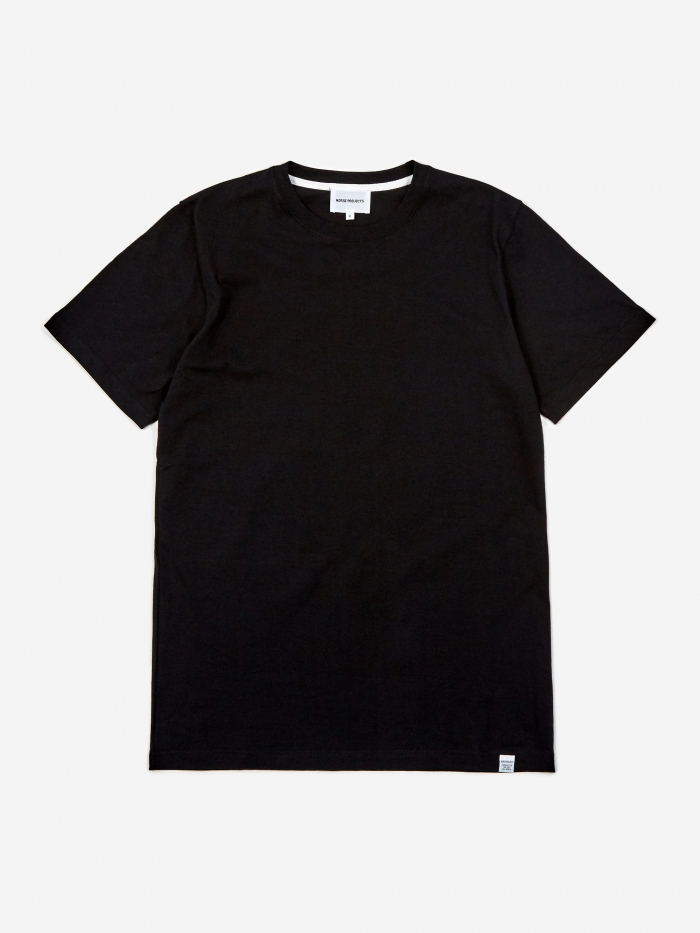 Norse Projects Niels Standard SS T-Shirt - Black (Image 1)