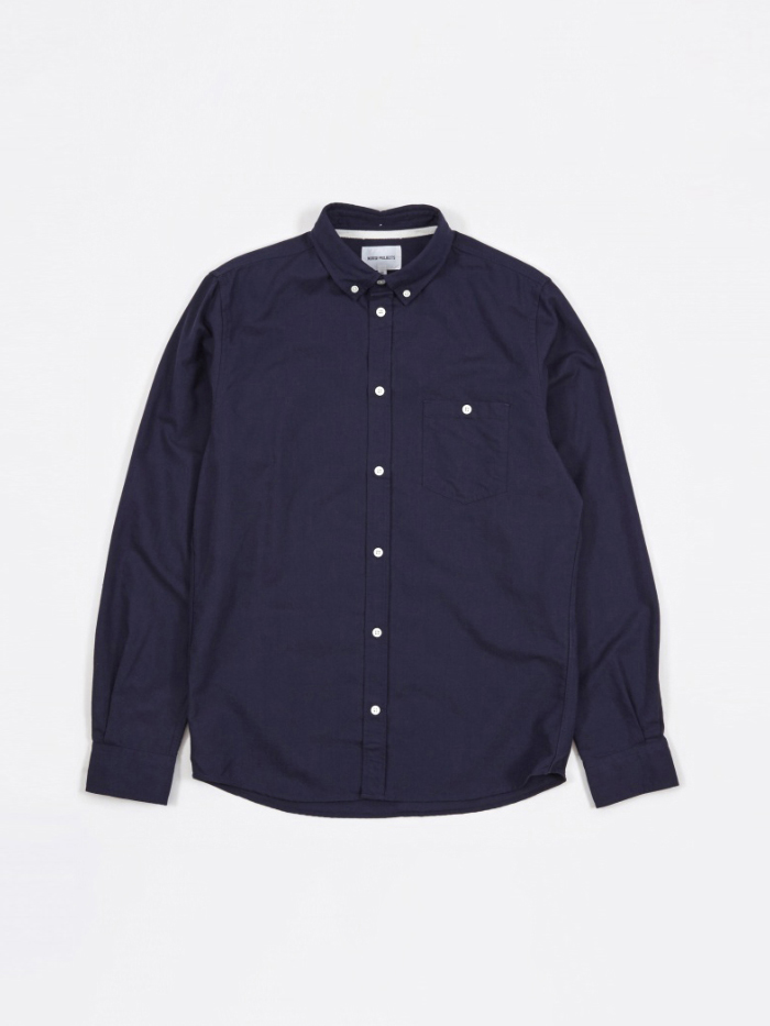Norse Projects Anton Oxford Shirt - Dark Navy (Image 1)