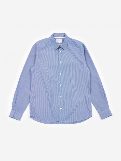Norse Projects Hans Classic Stripe Shirt - Navy Fine Stripe