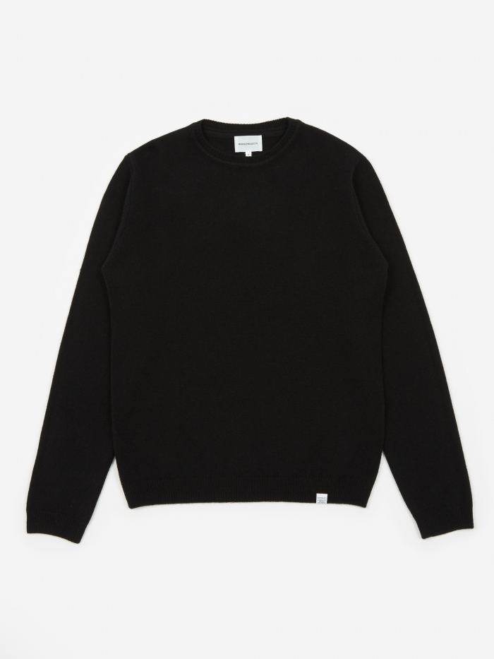 Norse Projects Sigfred Lambswool Jumper - Black (Image 1)