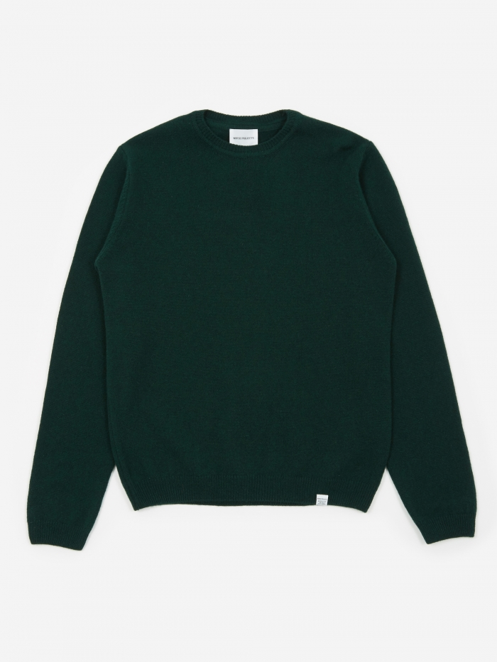 Norse Projects Sigfred Lambswool Jumper - Quartz Green (Image 1)