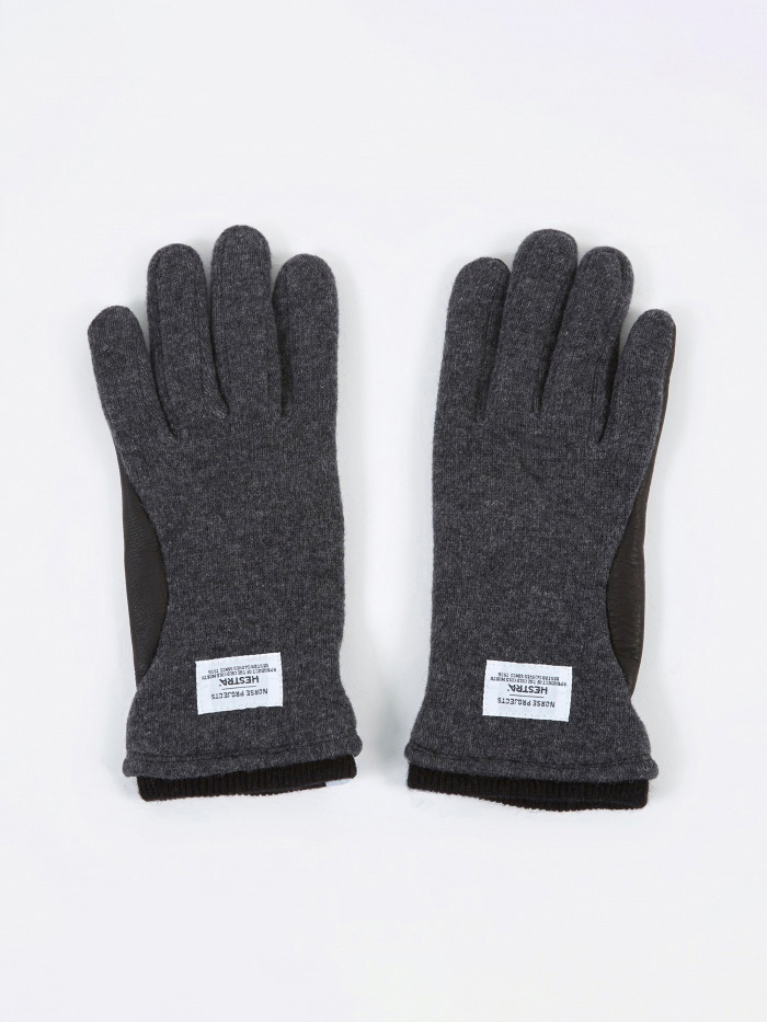 Norse Projects x Hestra Svante Gloves - Charcoal (Image 1)