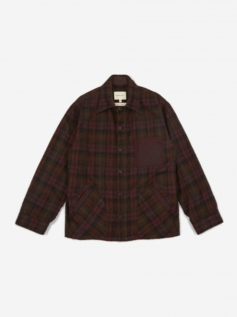 Nicholas Daley Yussef Shirt Jacket - Burgundy