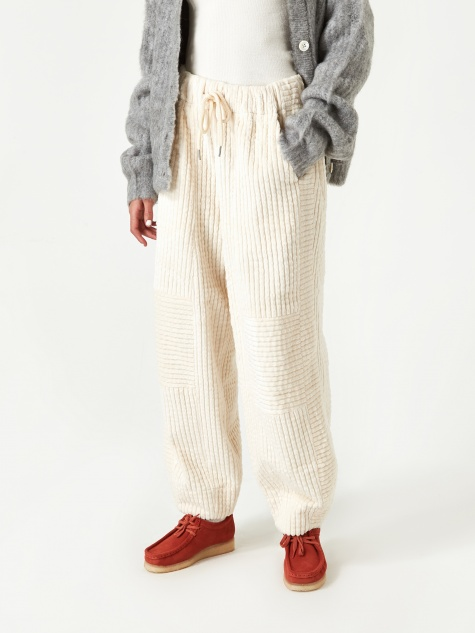 Bold Corduroy Comfy Pant - Pearled Ivory