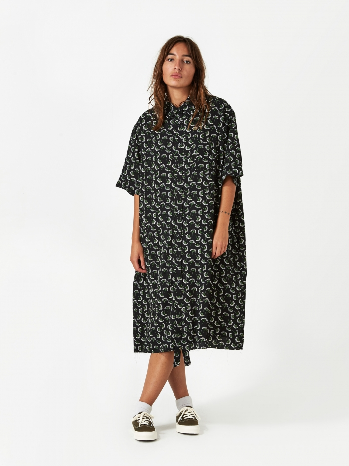 Stand Alone Oversized Shirt Dress - Black (Image 1)