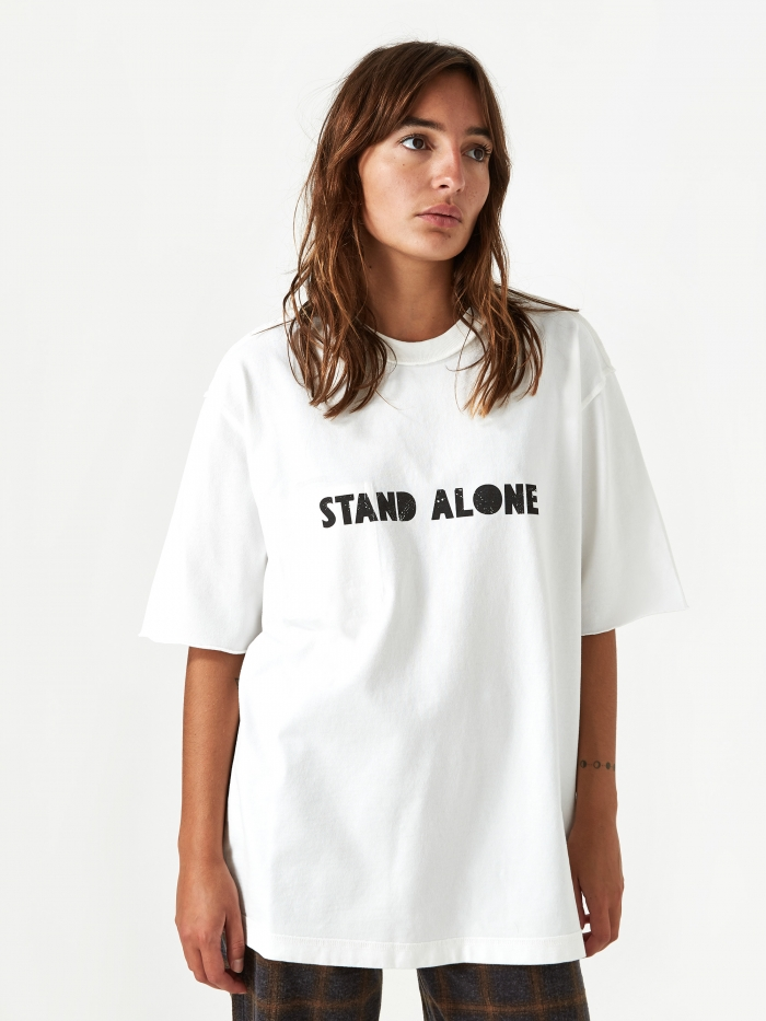 Stand Alone Big Logo Shortsleeve T-Shirt - White (Image 1)