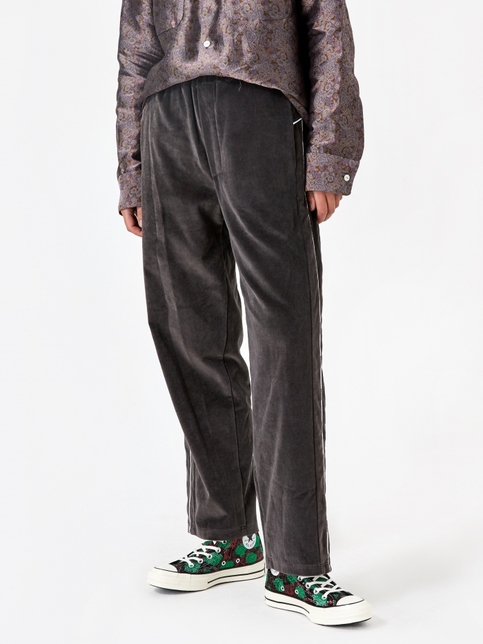 Stand Alone Velvet Loose Fit Trouser - Grey (Image 1)