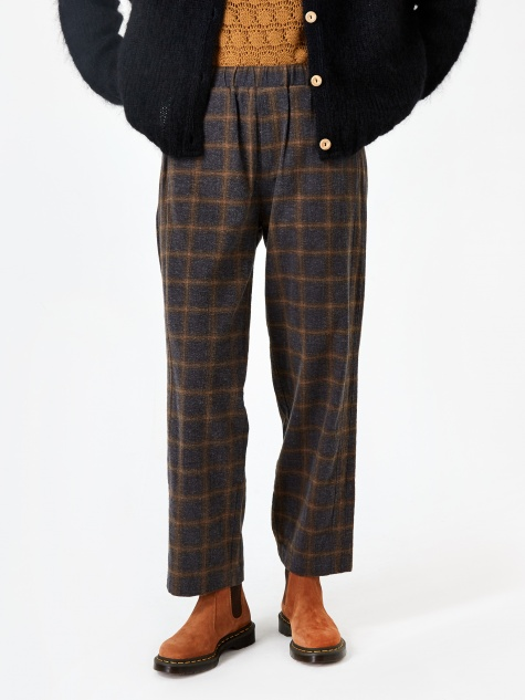 Loose Fit Check Trouser - Grey Check