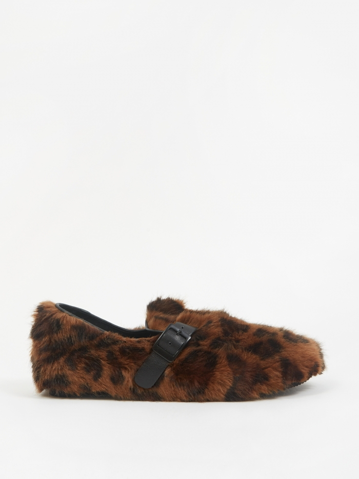 Stand Alone Faux Fur Slip On Shoe - Leopard (Image 1)