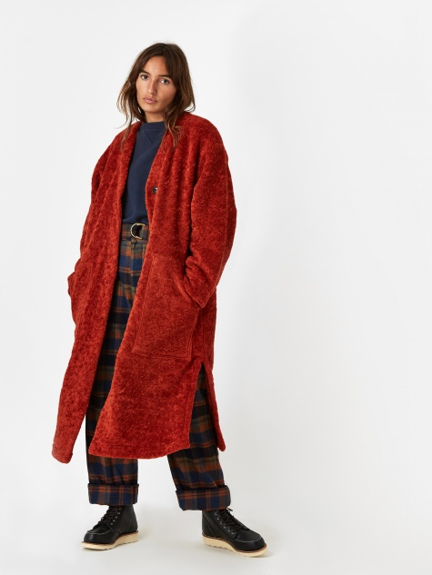 Girls Of Dust Spencer Fur Liner Coat - Tangerine