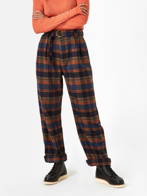 Girls Of Dust Havana Wool Chino - Tartan Blue