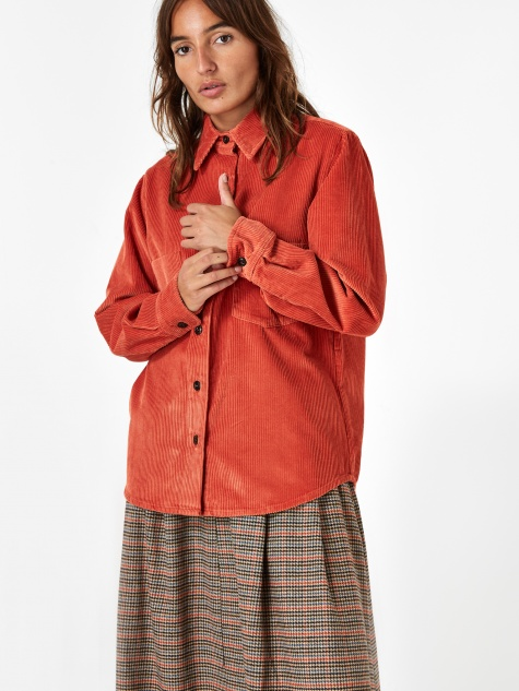 Girls Of Dust Corduroy Shirt - Tangerine