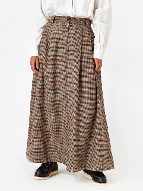 Girls Of Dust Service Check Skirt - Multi