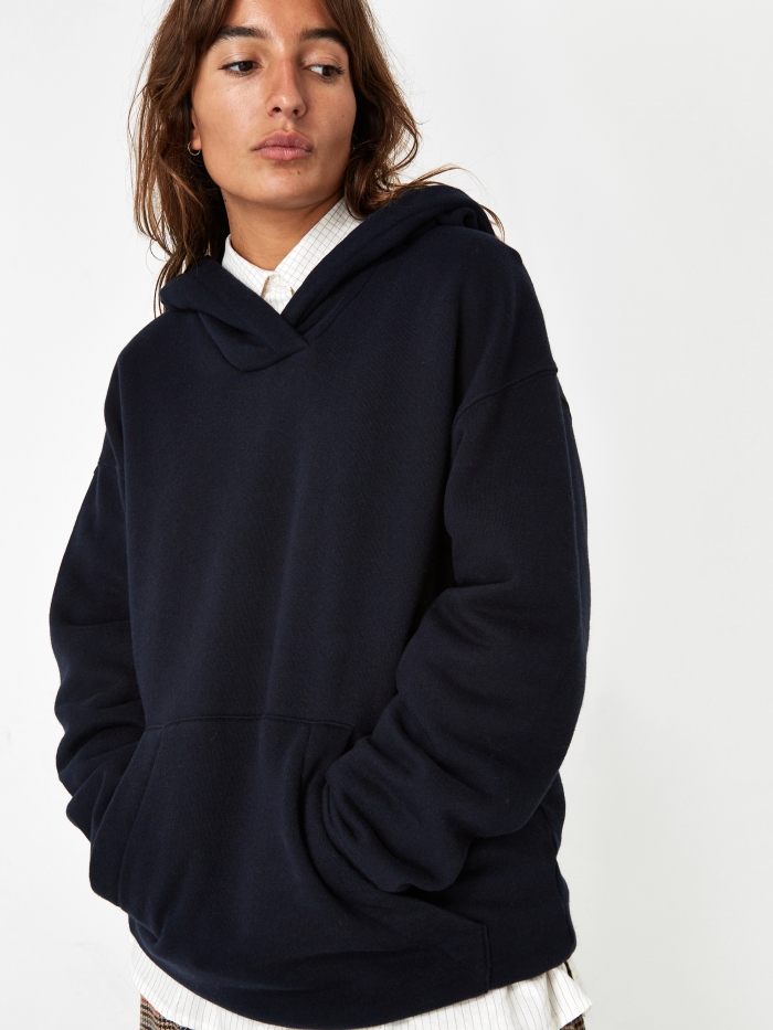 Girls Of Dust Fleece Hoodie - Navy (Image 1)