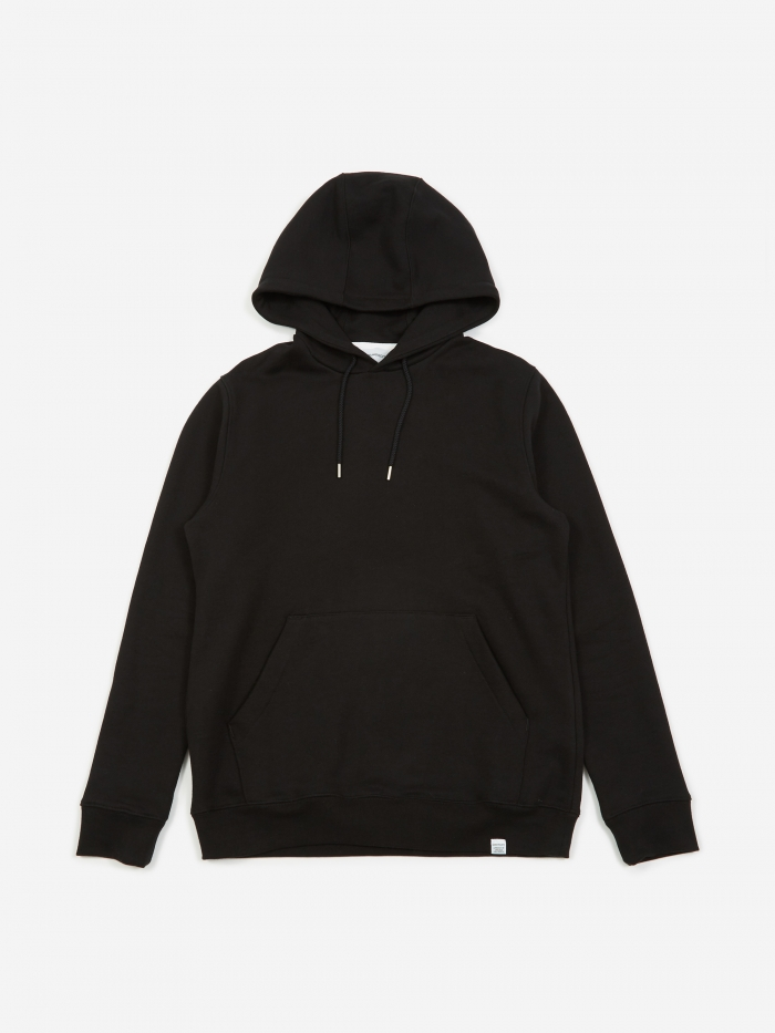 Norse Projects Vagn Classic Hooded Sweatshirt - Black (Image 1)