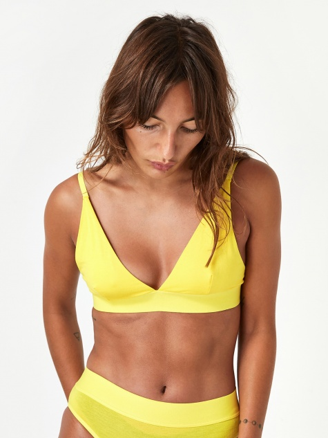 Triangle Bra Bamboo - Braid Yellow