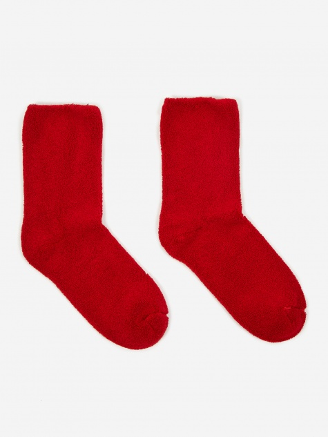 Buckle Over Ankle Sock - Simin Red