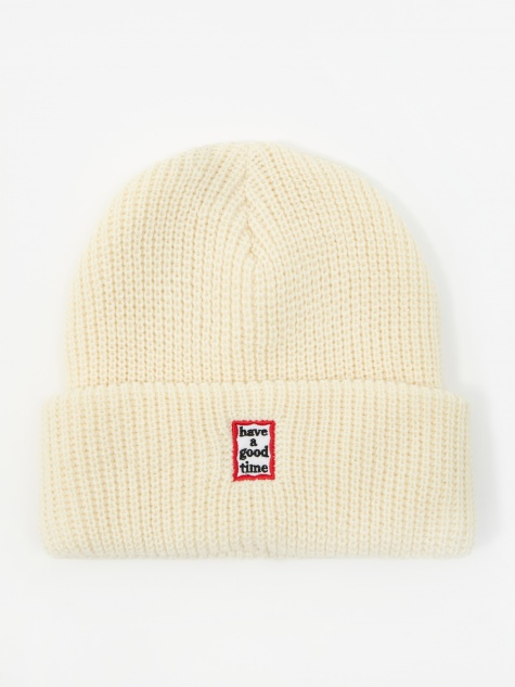Mini Mini Frame Beanie - Cream