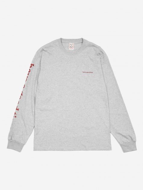 Arm Side Logo Longsleeve T-Shirt - Heather Grey