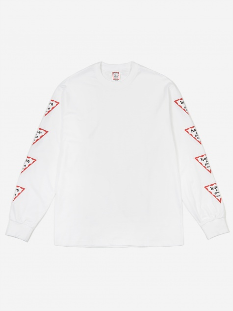 Arm Triangle Frame Longsleeve T-Shirt - White