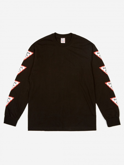 Arm Triangle Frame Longsleeve T-Shirt - Black