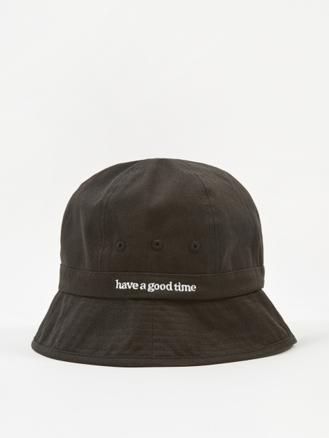 Side Logo Bucket Hat - Black