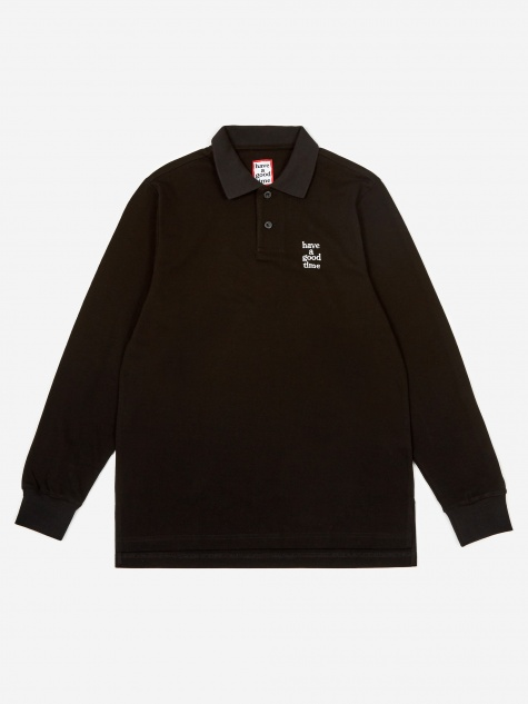 Logo Longsleeve Polo Shirt - Black