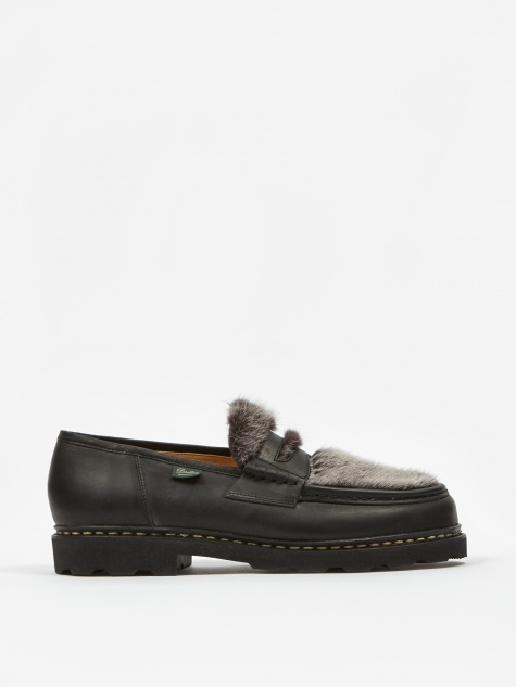Reims Shoe - Black Matte/Mink