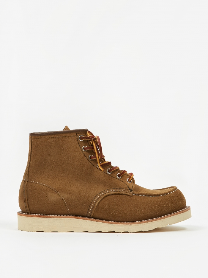 Red Wing 6 inch Classic Moc Toe Boot - Olive Mohave (Image 1)