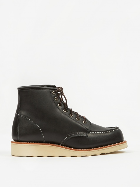 Red Wing 6 inch Classic Moc Toe Boot - Black Boundary
