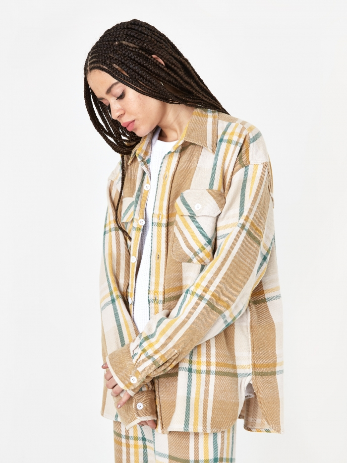 Unused Checked Shirt - Beige (Image 1)