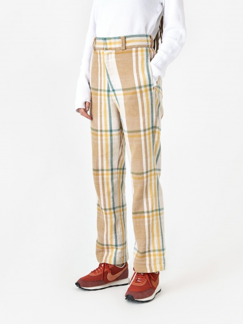Checked Trouser - Beige