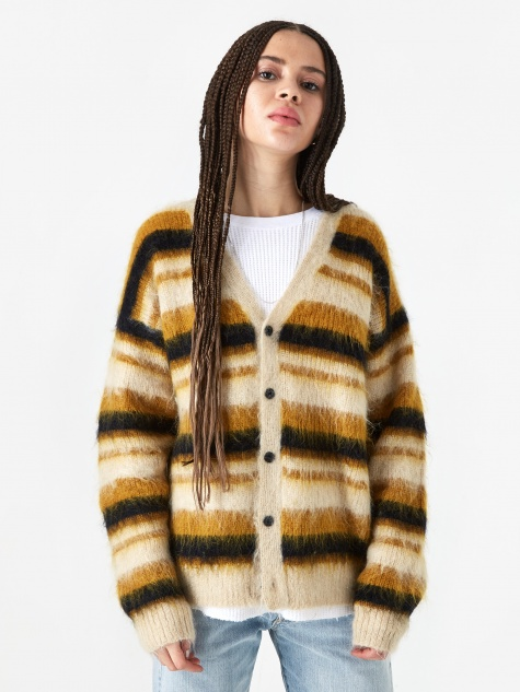 Striped Cardigan - Yellow