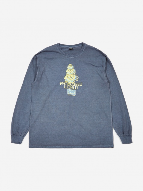 Processed World Longsleeve T-Shirt - Navy