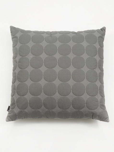 Mega Dot Cushion - Dark Grey