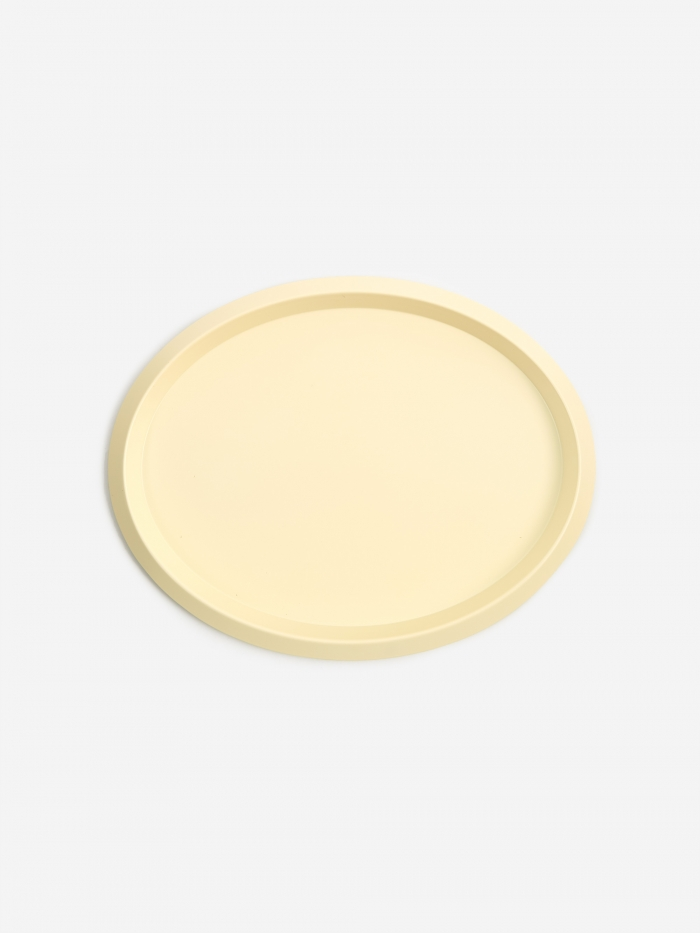 HAY Ellipse Tray S - Light Yellow (Image 1)