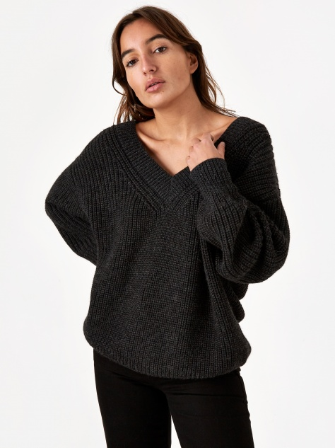 Revel Knit Jumper - Charcoal