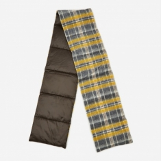 Nanamica Wool Check Down Muffler - Yellow