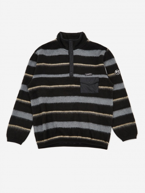 Nanamican Pullover Jumper - Black/Charcoal