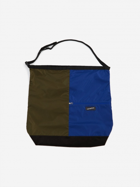 Nanamican Utility Shoulder Bag L - Olive/Blue