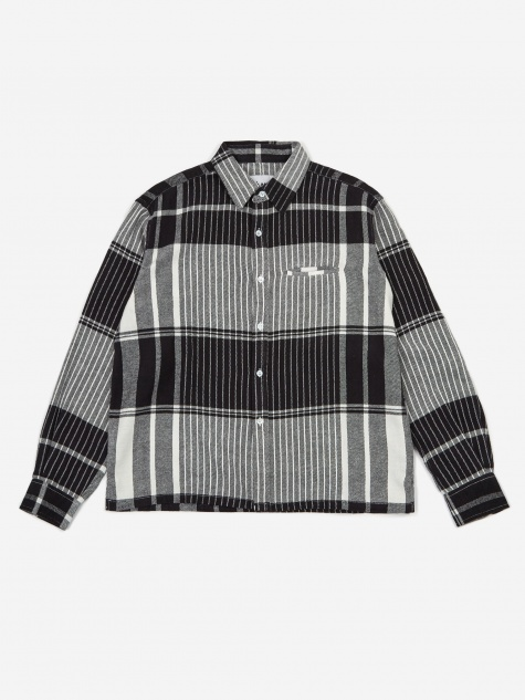 Plaid Shirt - Black/White