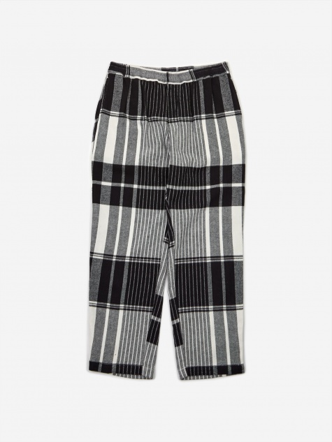 Plaid Pant - Black/White