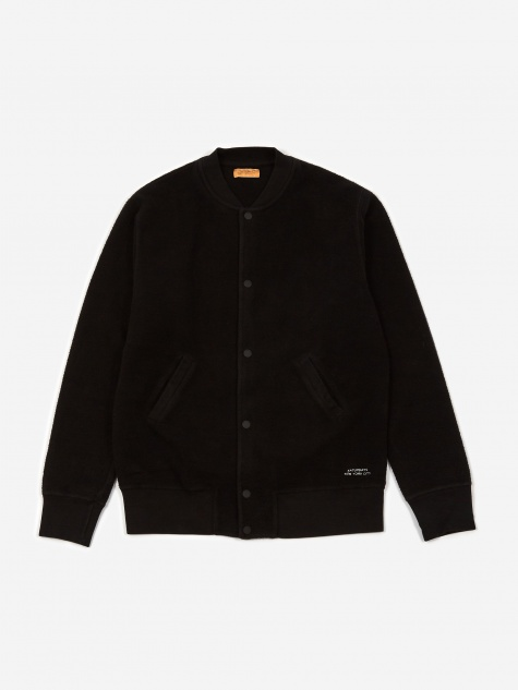 Wray Varsity Sweat Jacket - Black