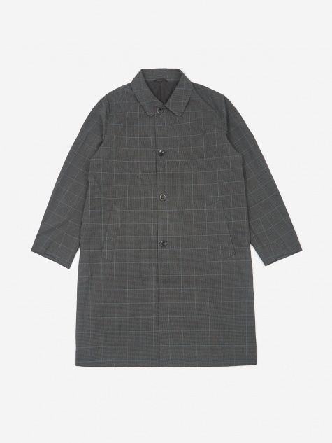 Daikanyama Plaid Overcoat - Black